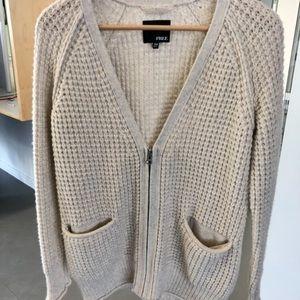 Wilfred Free knit zipper cardigan size XXS